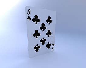Eight of Clubs 3D model