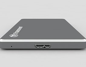 External Hard Drive Transcend StoreJet 25C3 USB Iron 3D 1