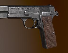 Browning Hi-Power pistol 3D asset