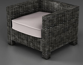 3D asset Wicker couch