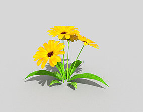 3D model low poly flower