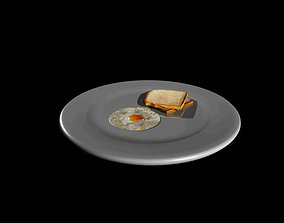 Omlete Bread 3D model