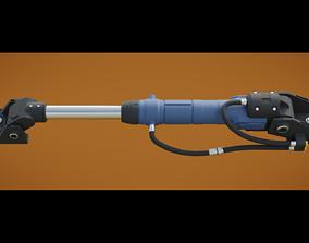 hard-surface 3D Hydraulic cylinder
