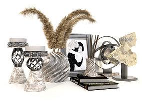 3D model Decorative set with pampas flower