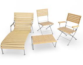 Equinoxe Outdoor Wooden Furniture transat 3D