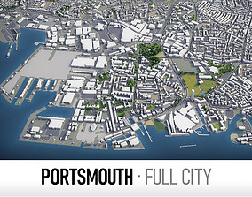 Portsmouth - city and surroundings 3D asset