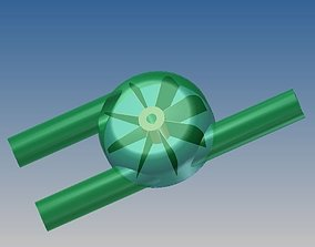3D model Turbine muffler