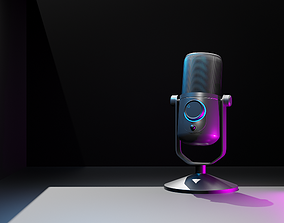 PBR Microphone 3D Model