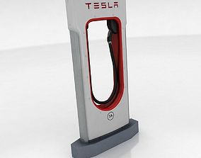 3D model Tesla Supercharger