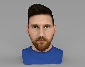 Lionel Messi bust ready for full color 3D