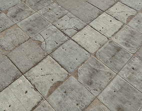 Concrete Floor Textures PBR Pack 1 3D model cement