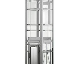 Glass Elevator 3D Model