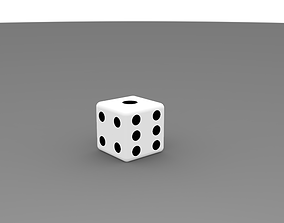 DICE Cube 3D printable model playing