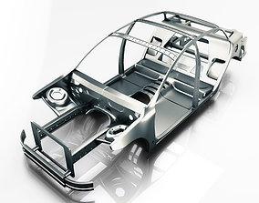 Car Frame Vray Ready 3d model