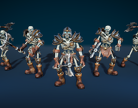 Skeleton Warrior With Two-Handed Axe 3D model