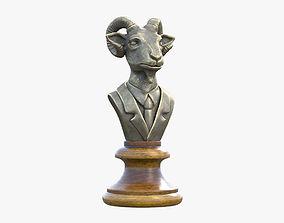 3D model Goat Bronze Sculpture