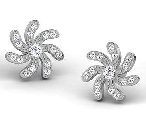 hoophuggie Women earrings 3dm render detail