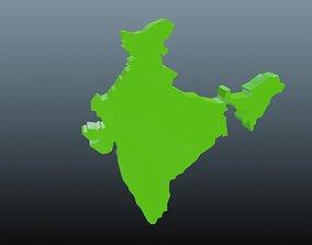 3D model India map symbol
