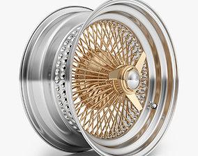100 Spoke Wire Wheel Rim 3D