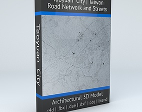 Taoyuan City Road Network and Streets 3D model