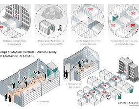 3D Temporary Isolation units treatment facility COVID19