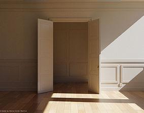 Interior Classic Room - Retro Scene - Vintage 3D model