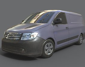 Generic Minivan Grey 3D model