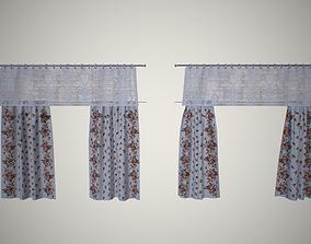 Kitchen curtains 3D asset