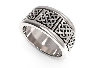 Celtic engagement ring stl file 3D printable model 2