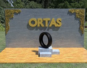 3D model ORTAS TIRE PACK 3 INCLUDING 5 GAME READY TIRES