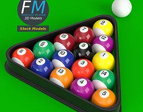 3D model Pool Billiard Balls