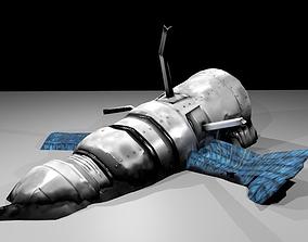 Game-Ready Crashed Satellite Asset VR / AR ready