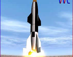 Hermes A1 Ballitic Missile 3D
