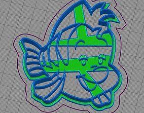 The Little Mermaid Set Ariel Flounder 3D printable model 3