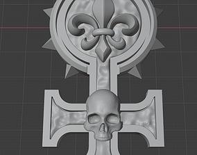 Sisters of battle badge rosette 3D printable model