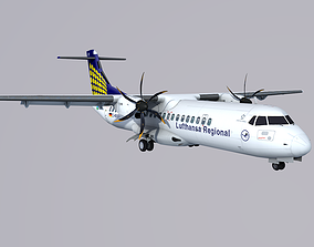 3D model ATR 72 Contact Air Lufthansa Regional