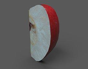 3D model Apple Wedge Red