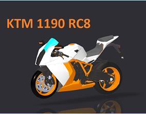 KTM 1190 RC8 3D model