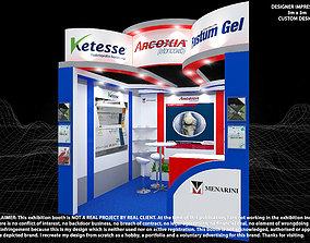 A Menarini Acroxia 3x6 Exhibition Booth 1 3D
