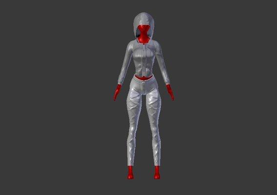 Female clothing model