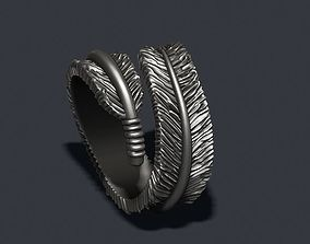 feather ring 3D printable model zbrush