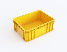 Plastic crate 06 3D model