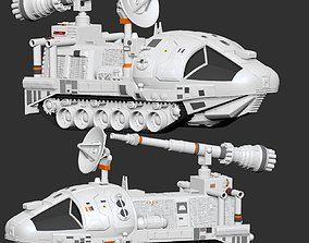 3D print model Space 1999 Alpha Laser Tank