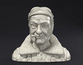 Steampunk pilot head 3D print model