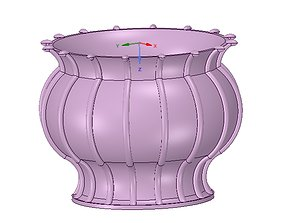 vase cup vessel for 3d-print or cnc
