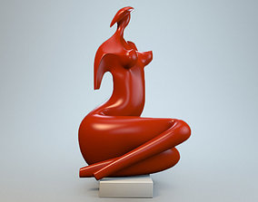 Sculpture Lady in hat P 3D print model