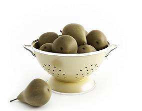 3D model Pears In Drainer