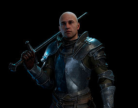 Knight Alex medieval 3D model