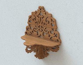 Carved wall shelf 3D print model