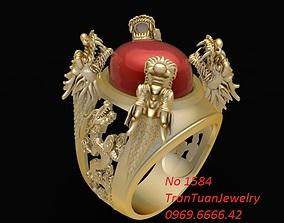 3D print model 1584 Lucky Dragon Ring